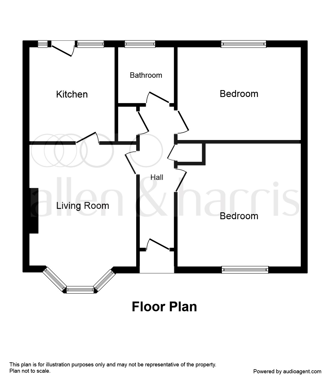 2 bedroom ground floor flat for sale claddens quadrant for 2 bedroom ground floor plan