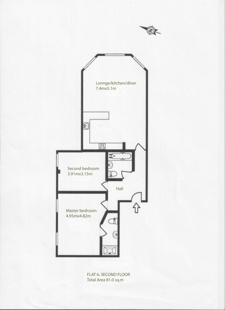 2 bedroom flat to rent  streatham high road  london  sw16 3qe