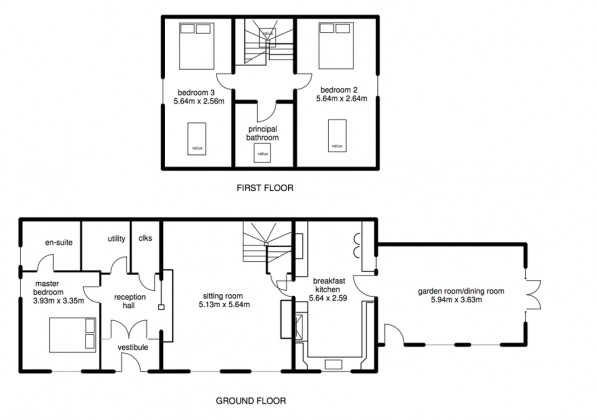 3 bedroom barn conversion for sale wyaston court for Barn conversion floor plans