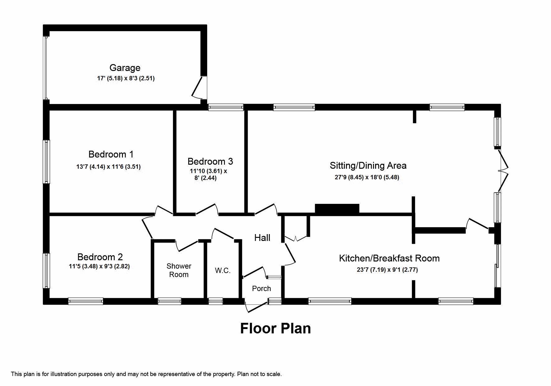 3 Bedroom Detached Bungalow For Sale Freeborn Close