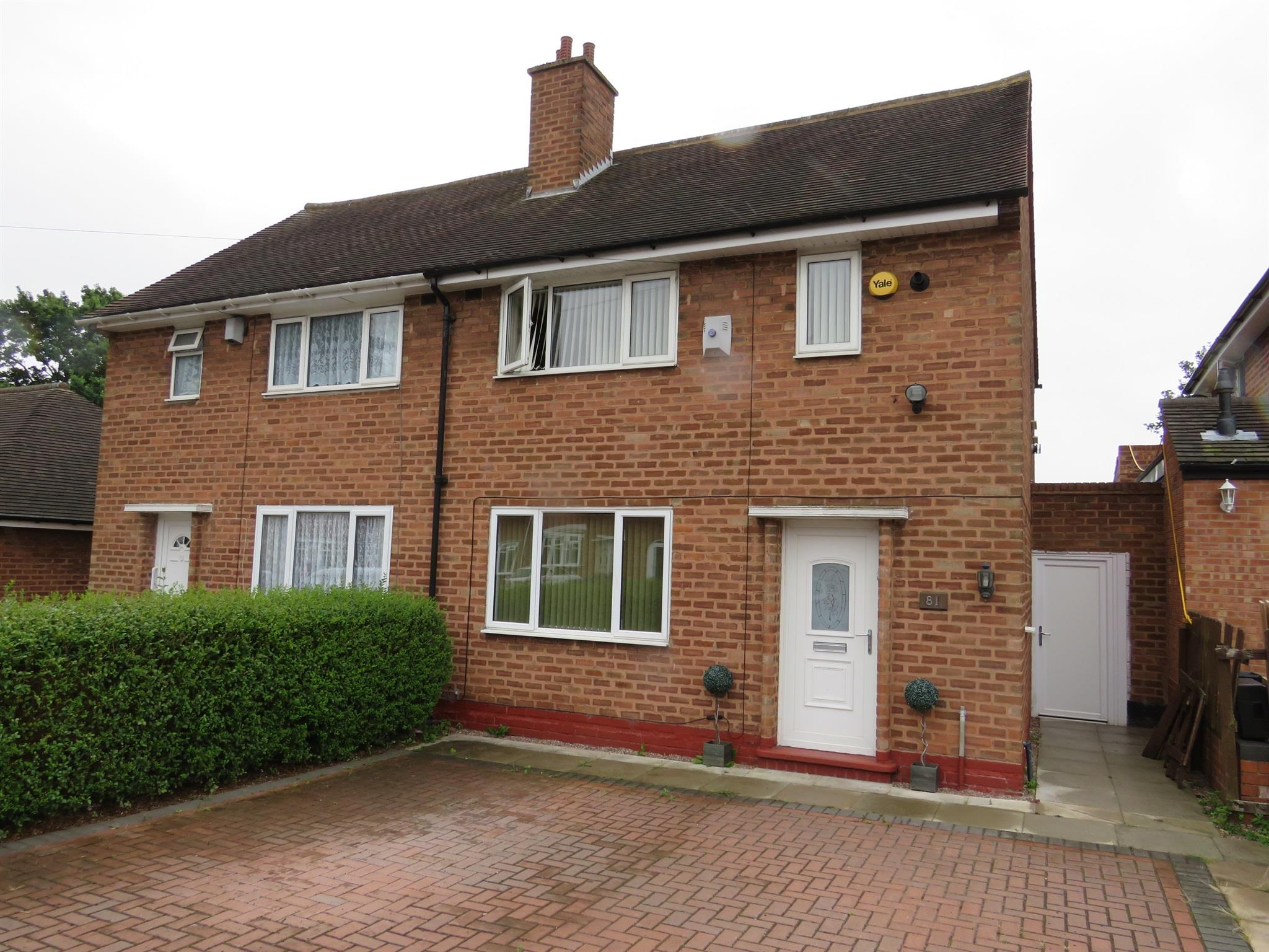 2 Bedroom Semi Detached House For Sale Thistledown Road Birmingham B34 7ee