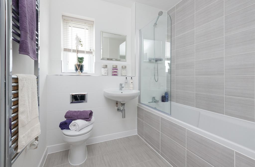 4 bedroom detached house for sale birchwood house type for Show home bathrooms