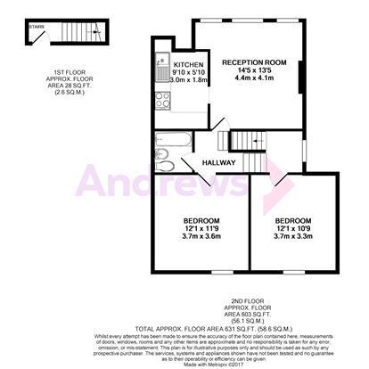 2 Bedroom Flat To Rent Gleneldon Road Streatham Sw16 2bh