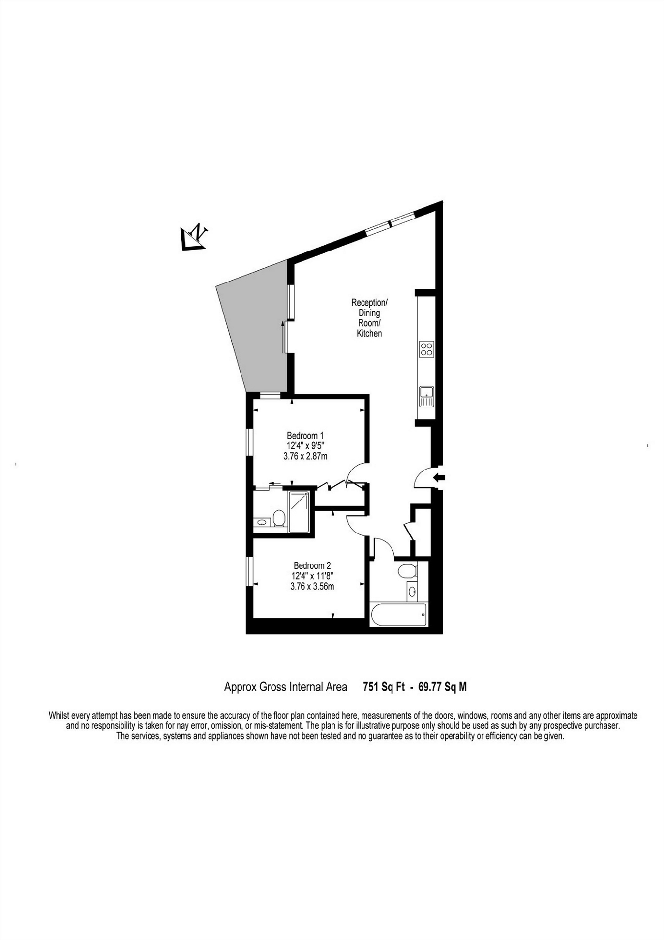 2 bedroom flat to rent rutherford heights trafalgar for Rutherford house plan