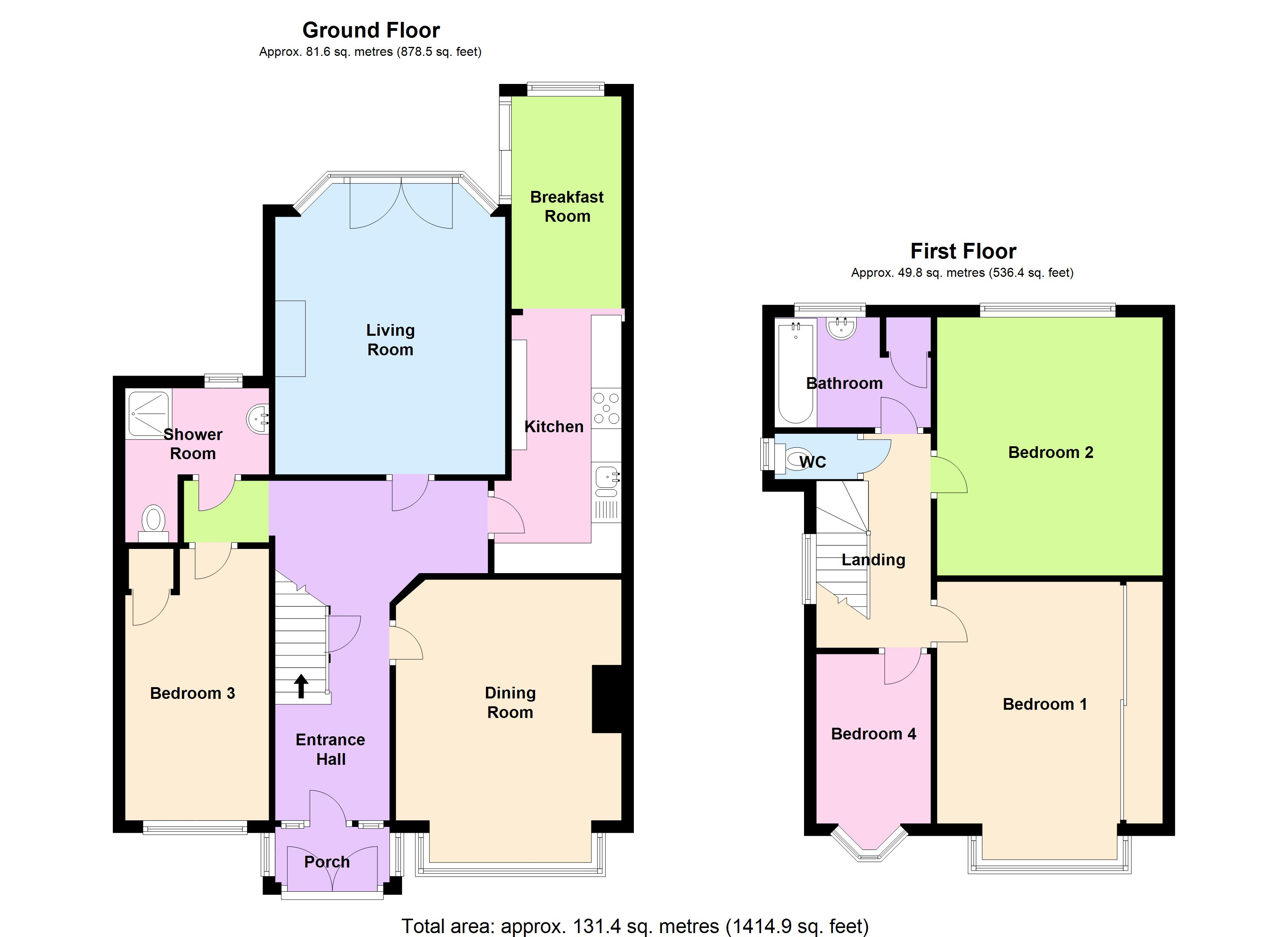 4 bedroom semi detached house for sale green lane london for 16 brookers lane floor plans