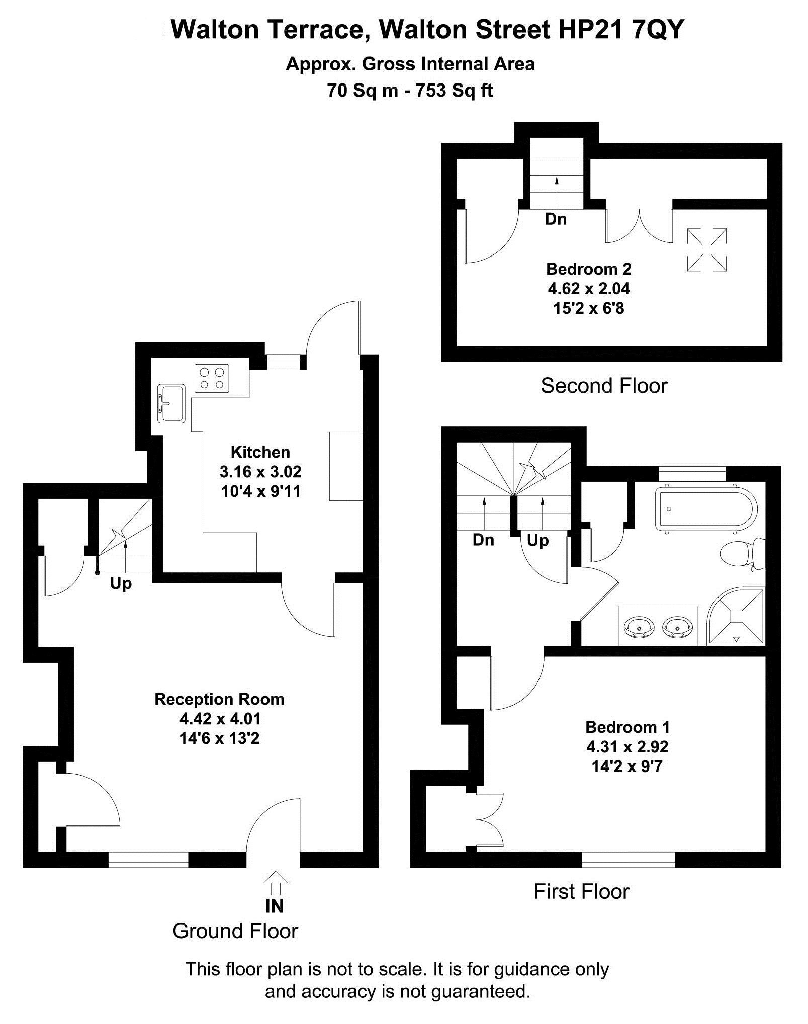2 bedroom house to rent walton street aylesbury hp hp21 7qy for Walton house floor plan