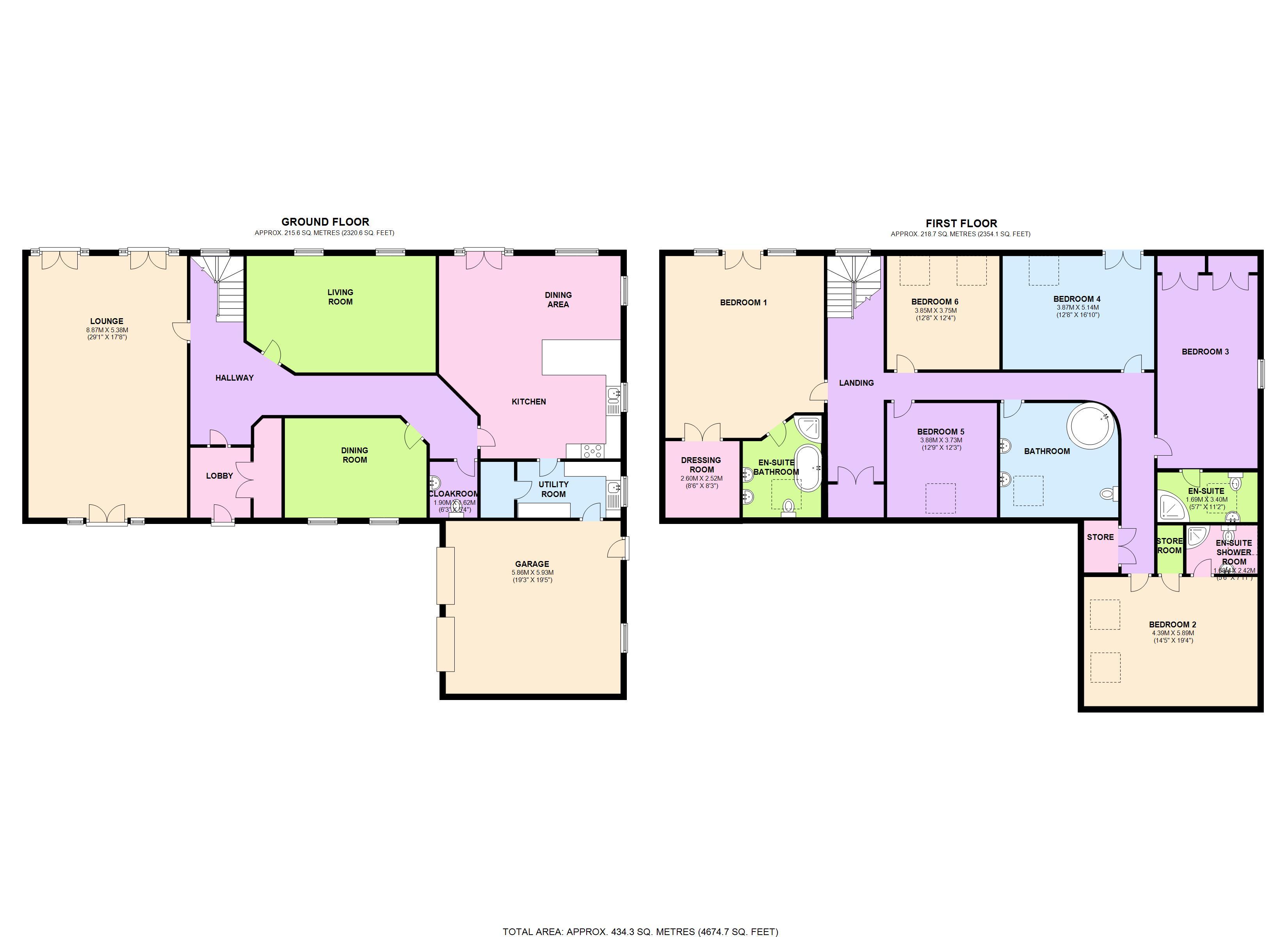 6 bedroom barn conversion for sale heathery tops farm for Barn conversion floor plans