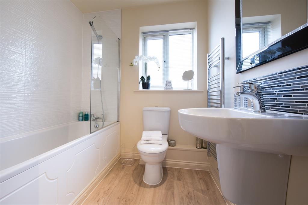 3 bedroom detached house for sale aaron manby court high for Show home bathrooms