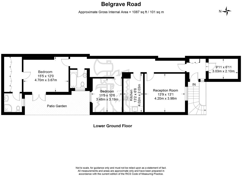 2 Bedroom Flat For Sale Belgrave Road London Sw Sw1v 2bh